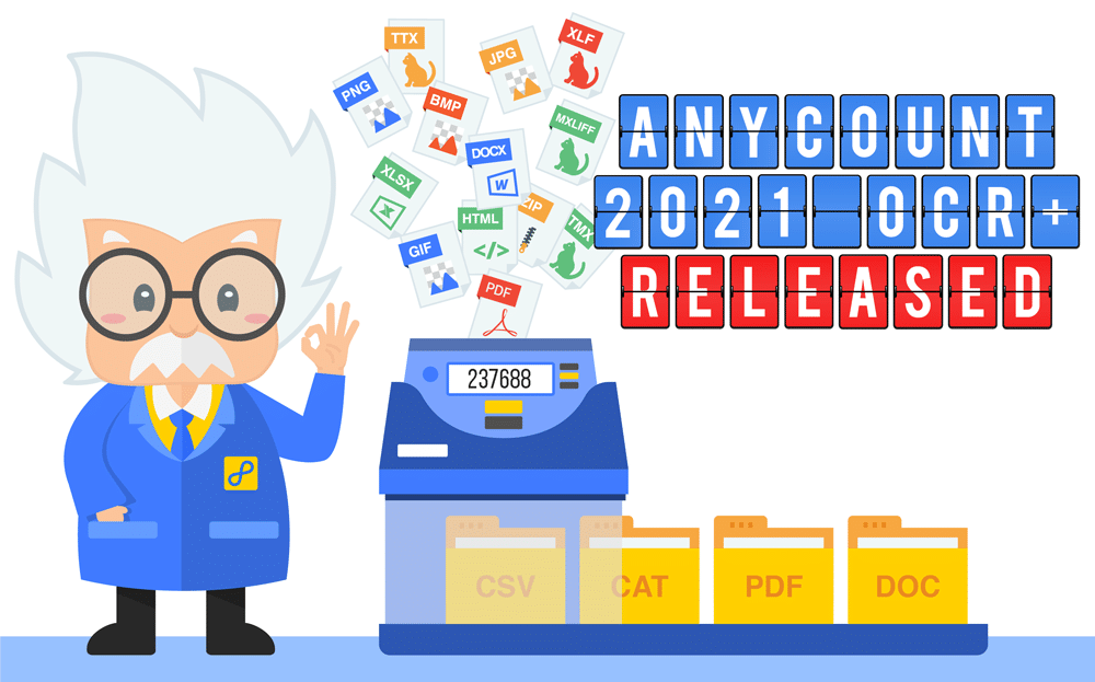 Meet brand new AnyCount 2021 with powerful OCR, word count log, and more...